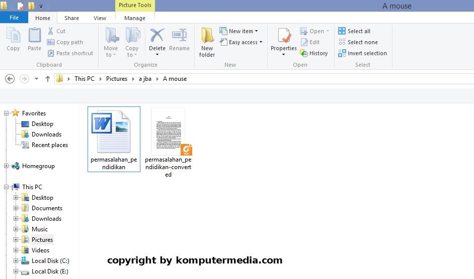 cara mengubah word ke pdf di laptop
