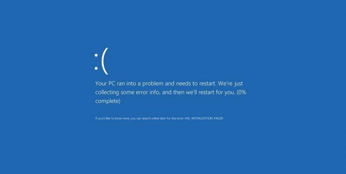 Adanya file system yang error