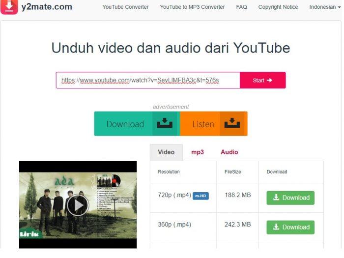 Cara mudah untuk download video dari youtube