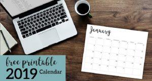 Free Download Template Kalender Nasional 2019 Format CDR, PSD Gratis