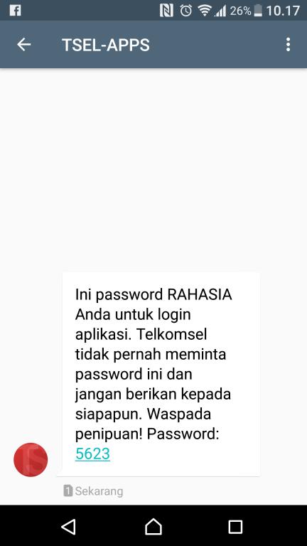 Kode Verifikasi Telkomsel