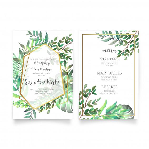 Undangan Pernikahan Bunga