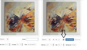 hasil dari memperbesar resolusi gambar dengan menggunakan generator