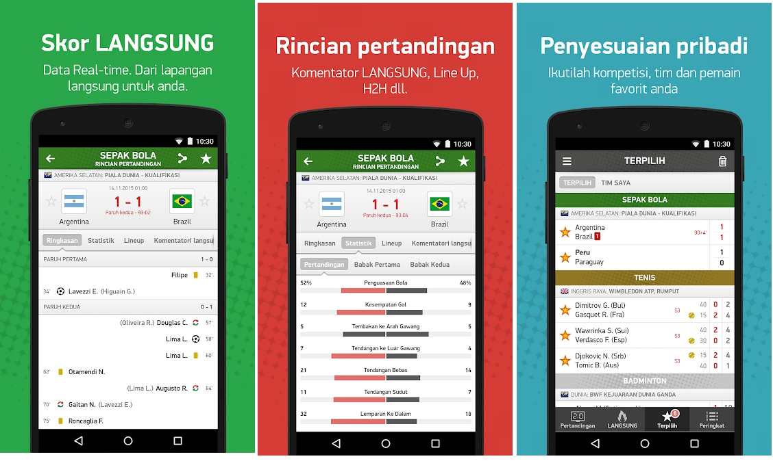 Aplikasi FlashScore Indonesia