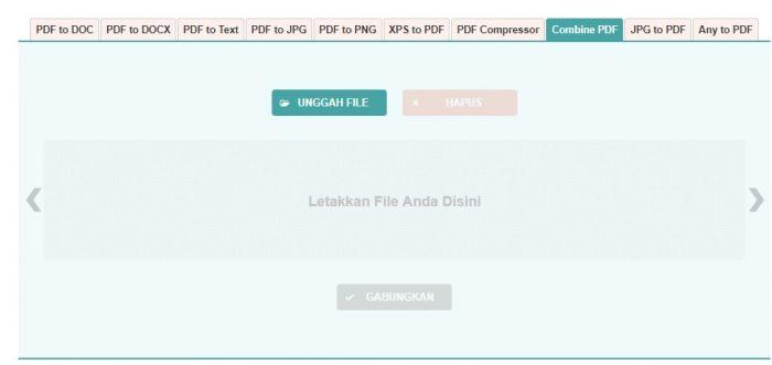 menggabungkan beberapa file PDF