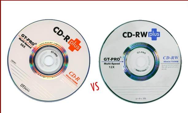 CD-R vs CD-RW