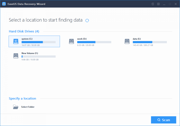 New EaseUS Data Recovery Wizard