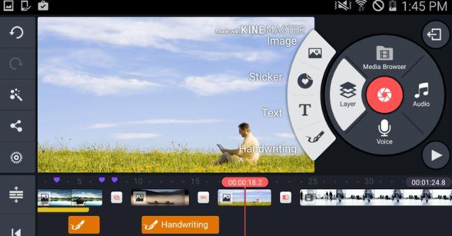 Aplikasi Android edit video Kinemaster