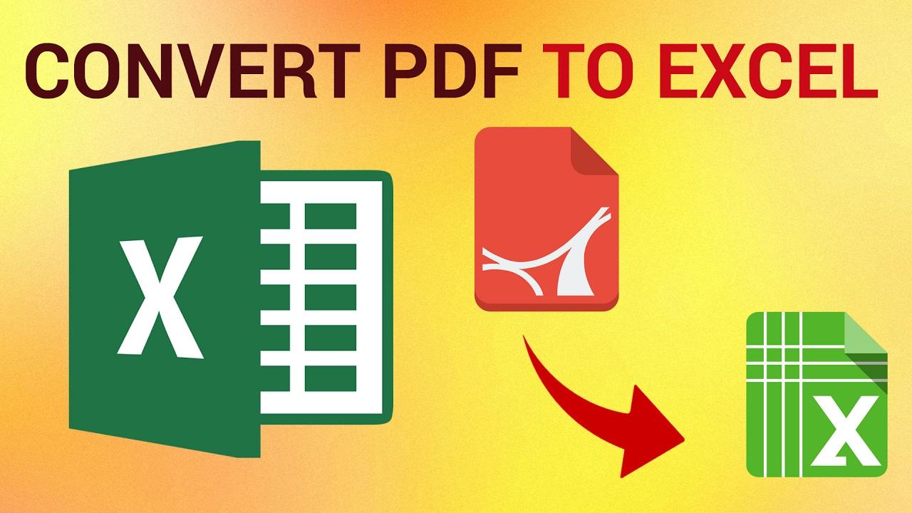 Converter dari PDF ke EXCEL